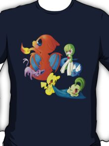 pokemon charmander pikachu dragonite espeon anime shirt T-Shirt