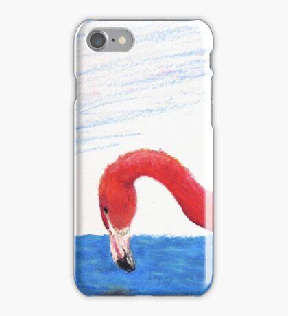 Fishing Pink Flamingo iPhone Case/Skin