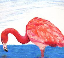 Fishing Pink Flamingo by Shanarelle