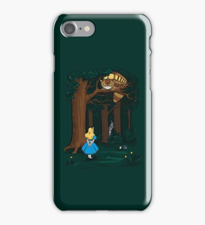 My Neighbor in Wonderland (Dark Green) iPhone Case/Skin