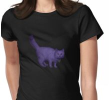 'Baby It's Cold Outside' Purple Kat  Womens Fitted T-Shirt