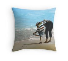 Sandy Shoes Throw Pillow