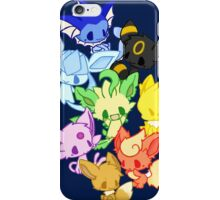 pokemon eevee vaporeon espeon flareon evolutions anime shirt iPhone Case/Skin
