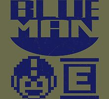 Blue Man by claygrahamart