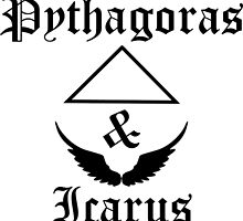Pythagoras & Icarus Old English Style Word Print Design by MintyBadger123