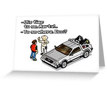 Back to the Future 8 Bit Greeting Card