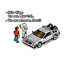 Back to the Future 8 Bit Photographic Print
