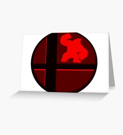 Smash Bros. Donkey Kong Greeting Card