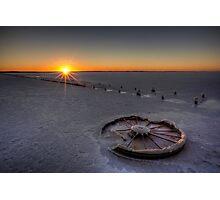 Barren Sunset • Lake Hart • South Australia  Photographic Print