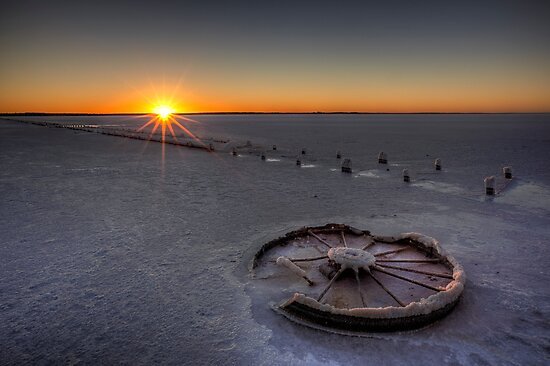 Barren Sunset • Lake Hart • South Australia  by William Bullimore