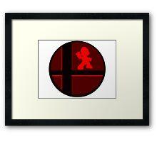 Smash Bros. Mario Framed Print