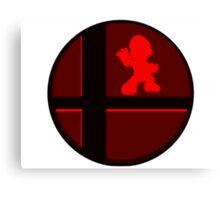 Smash Bros. Mario Canvas Print