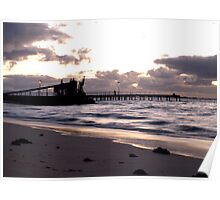 Kwinana Beach Jetty At Dusk Poster