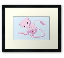 pokemon mew cute chibi anime shirt Framed Print