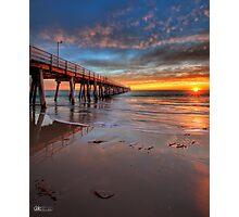 Grange Jetty Sunset - HDR Photographic Print
