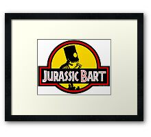 Jurassic Bart Framed Print