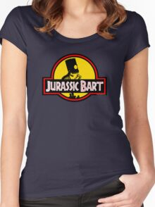 Jurassic Bart Women's Fitted Scoop T-Shirt
