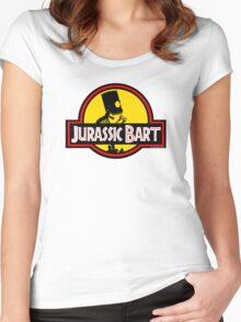Jurassic Bart Women's Fitted Scoop T-Shirt