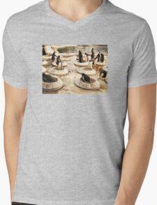 Penguin Paradise Mens V-Neck T-Shirt