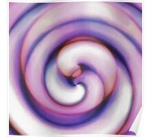 Pastel sea Shell Poster