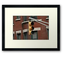 Use Caution Framed Print