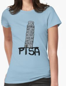 Pisa tower Womens Fitted T-Shirt