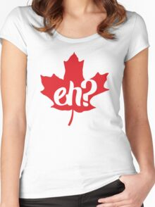 Canada, Eh? Maple Leaf Women's Fitted Scoop T-Shirt