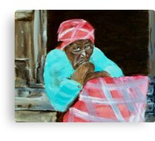 PLANTATION WOMAN Canvas Print