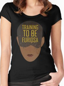 Training To Be Furiosa  Women's Fitted Scoop T-Shirt