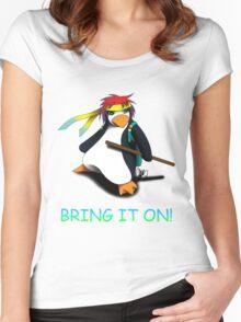 Juppo - Ninja Penguin Women's Fitted Scoop T-Shirt