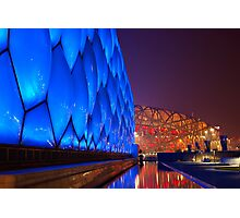 National Aquatics Centre & The Bird's Nest Photographic Print