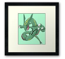 pokemon rayquaza dragon anime shirt Framed Print