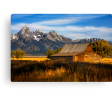 The Moulton Barn.  Mormon Row.  Jackson, Wyoming. USA. Canvas Print