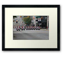 Spelling Motorcycles Framed Print
