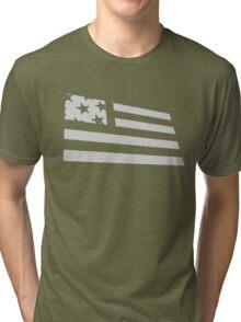 Distressed Flag Tri-blend T-Shirt