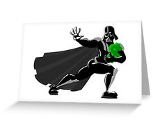 Darth Vader makes his Heisman Trophy run for the Dollar Greeting Card