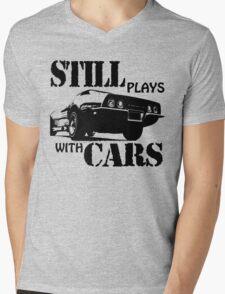 Still plays with cars  Mens V-Neck T-Shirt