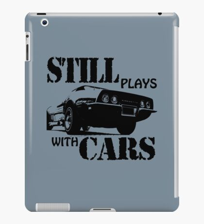 Still plays with cars  iPad Case/Skin