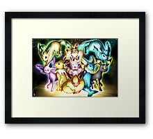 pokemon eevee espeon umbreon flareon anime lapton skin Framed Print