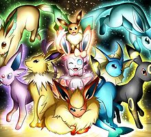 pokemon eevee espeon umbreon flareon anime lapton skin by JordanReaps