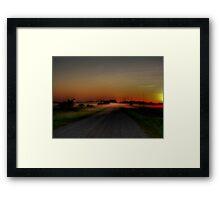 Mist on the Prairies Framed Print