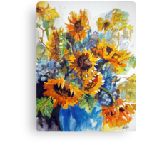 Vase Full of Sunshine Canvas Print