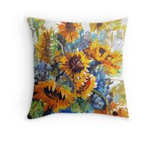 Vase Full of Sunshine Throw Pillow