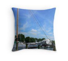 The Skipjack Thomas Clyde Throw Pillow