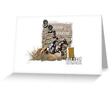 Barrel Racer Greeting Card