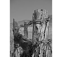 Utah fence Photographic Print