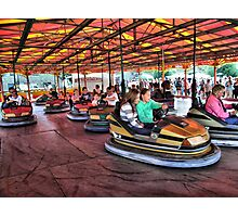 The Dodgems at Hawkesbury Upton Fair and Horticultural Show.  Photographic Print
