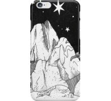 Inky Moonlit Mountains iPhone Case/Skin