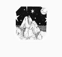 Inky Moonlit Mountains Unisex T-Shirt