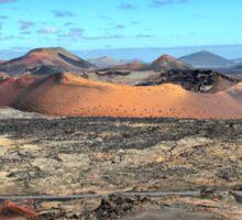 Volcanic scenery - Timanfaya National Park, Lanzarote Sticker